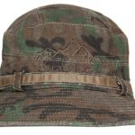 Green Foldable Cotton Camouflage Bucket Hat