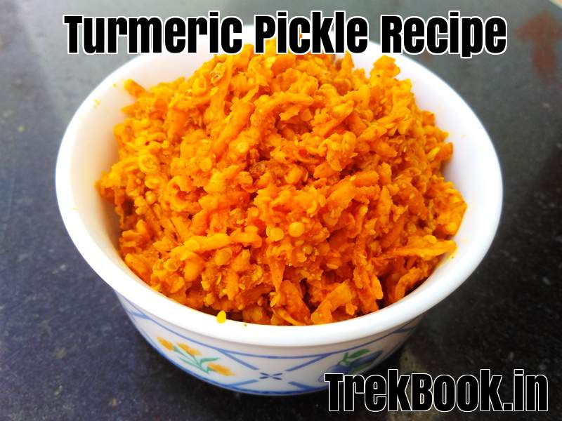 Olya haldiche lonche ( Turmeric pickle Recipe) : (हळदीचे लोणचे)