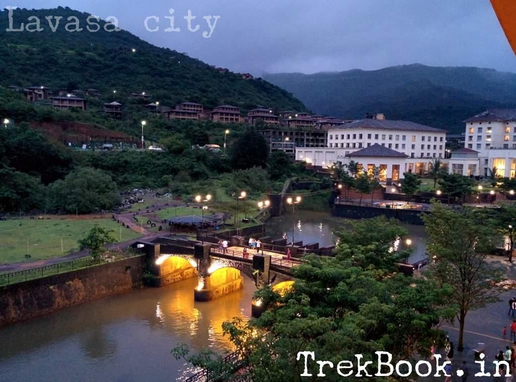 night views of Lavasa city near pune
