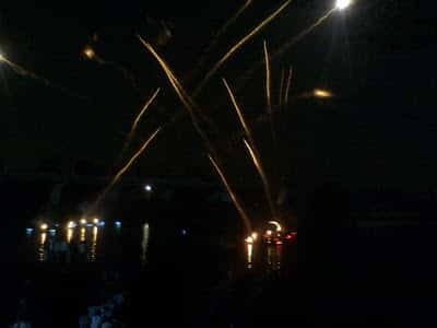 fireworks at coep regatta