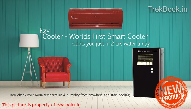 ezy cooler EZYCOOLER invention new launch trekbook india smart