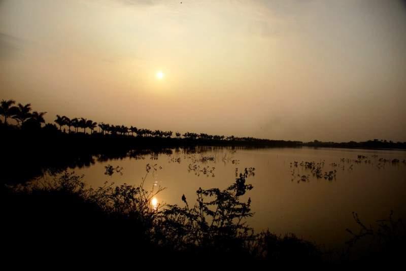 sunset pandharpur