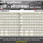 New Pune Lonavala local train timetable [2018 – Download PDF FREE]