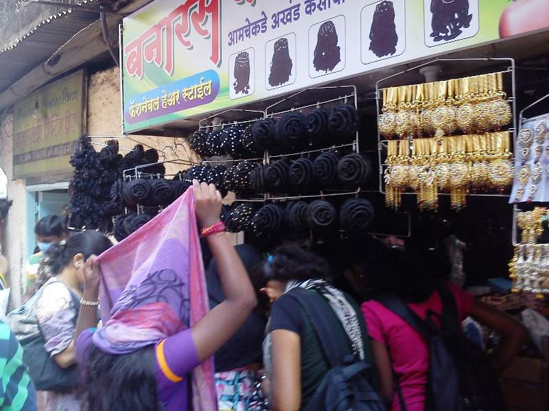 artificial hairs tulsi baug shop