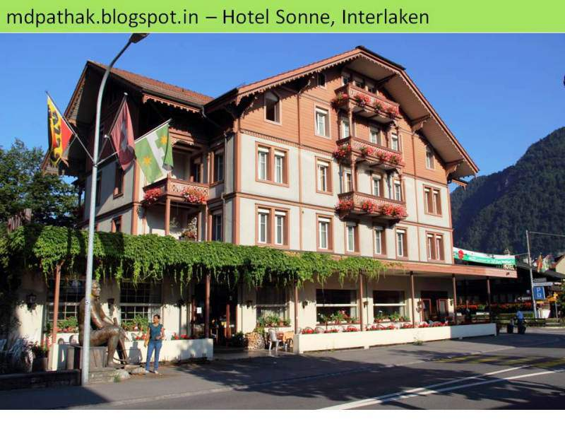 Hotel sonne interlaken outside view