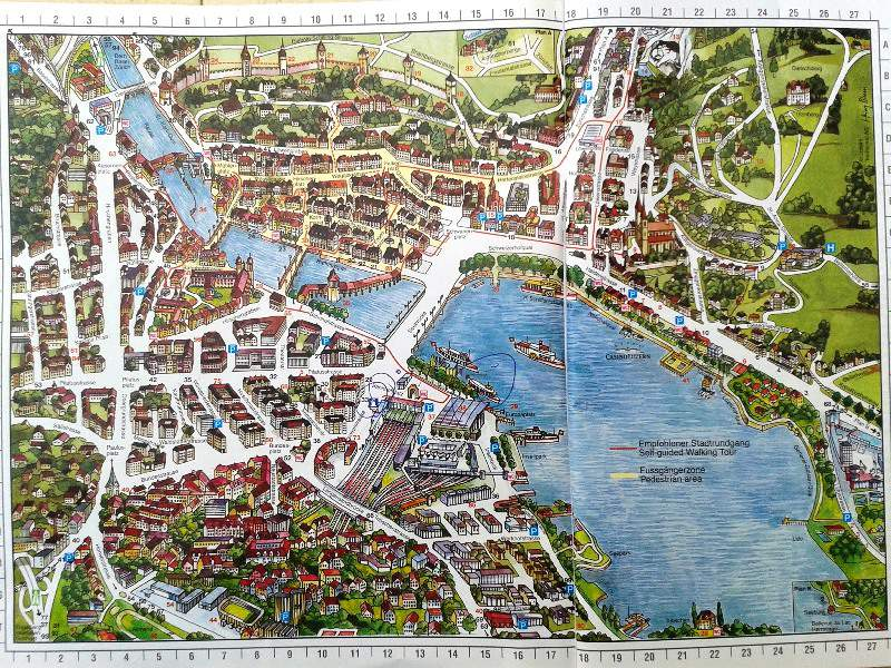Lucerne city tour map