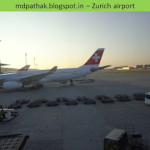 Switzerland 8 – Travel to Mumbai and reaching Zurich airport