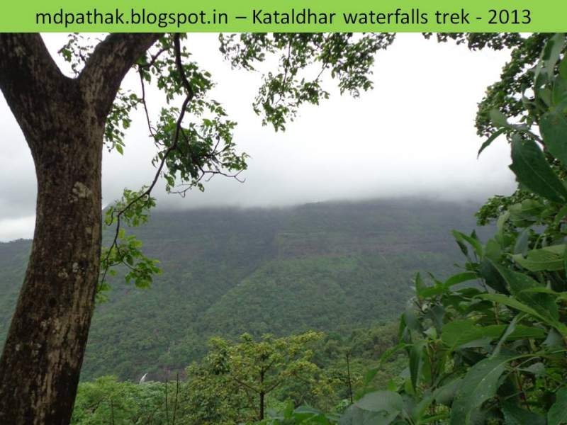 descending to kataldhar waterfalls
