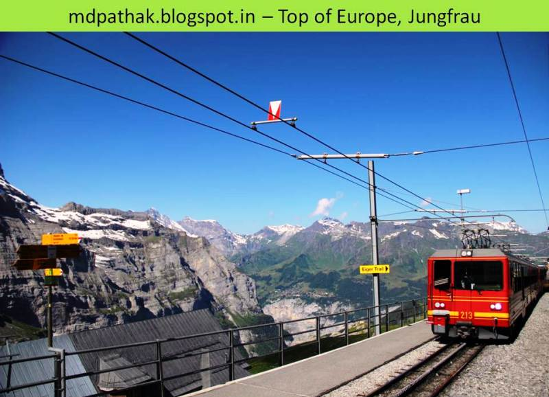 eiger trail station top of europe
