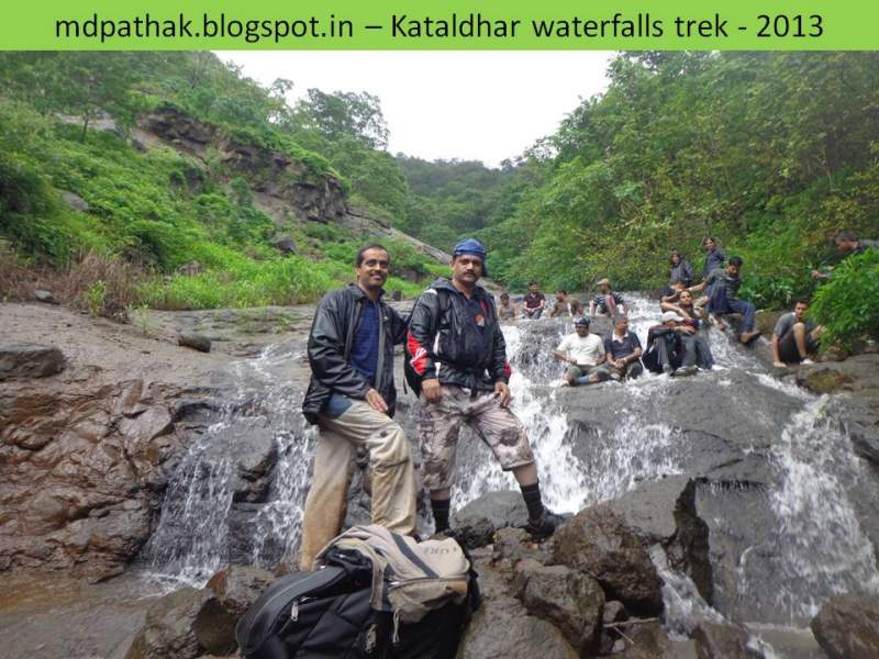 first bath on the way to kataldhar with trek leader