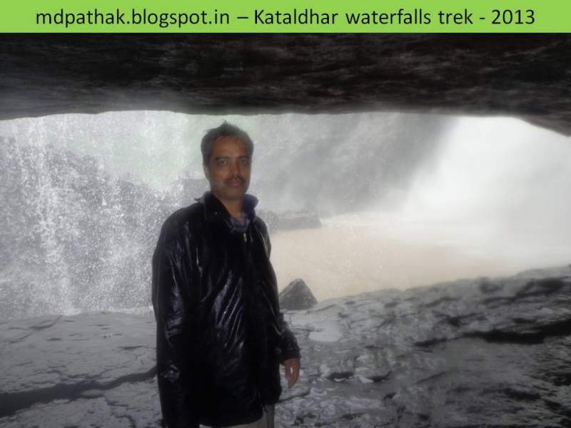mahesh inside the caves of kataldhar waterfalls
