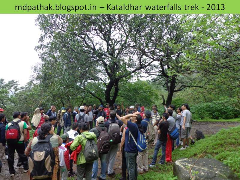 ready to descend to kataldhar waterfalls