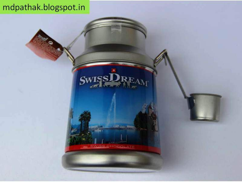 swiss dream chocolates in milk can