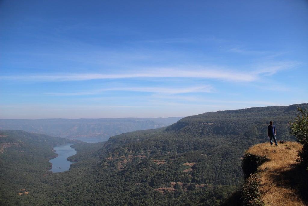 Breathtaking view of lake shivsagar from top of fort Vasota