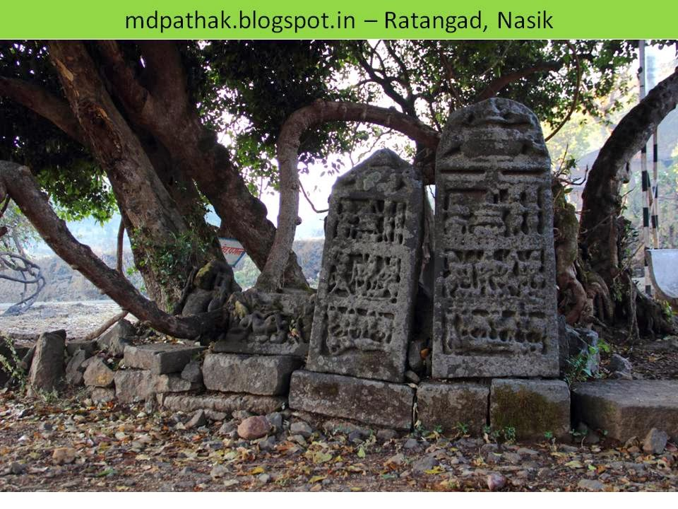 remains of temple in ratanwadi trek to ratangad