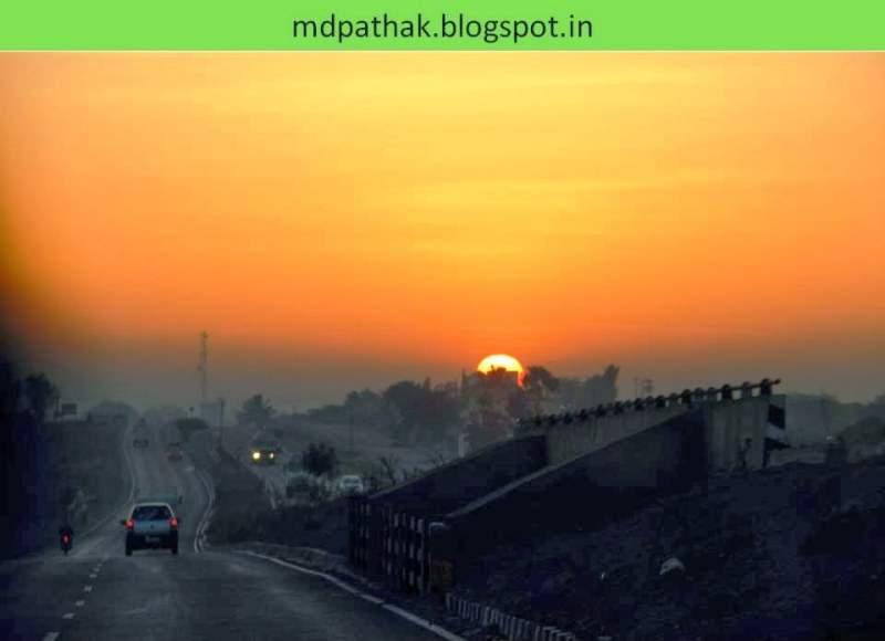 sunrise on the way to bhigwan