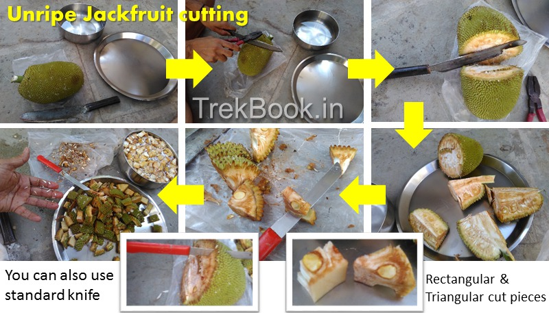 How to cut unripe Jackfruit Guide