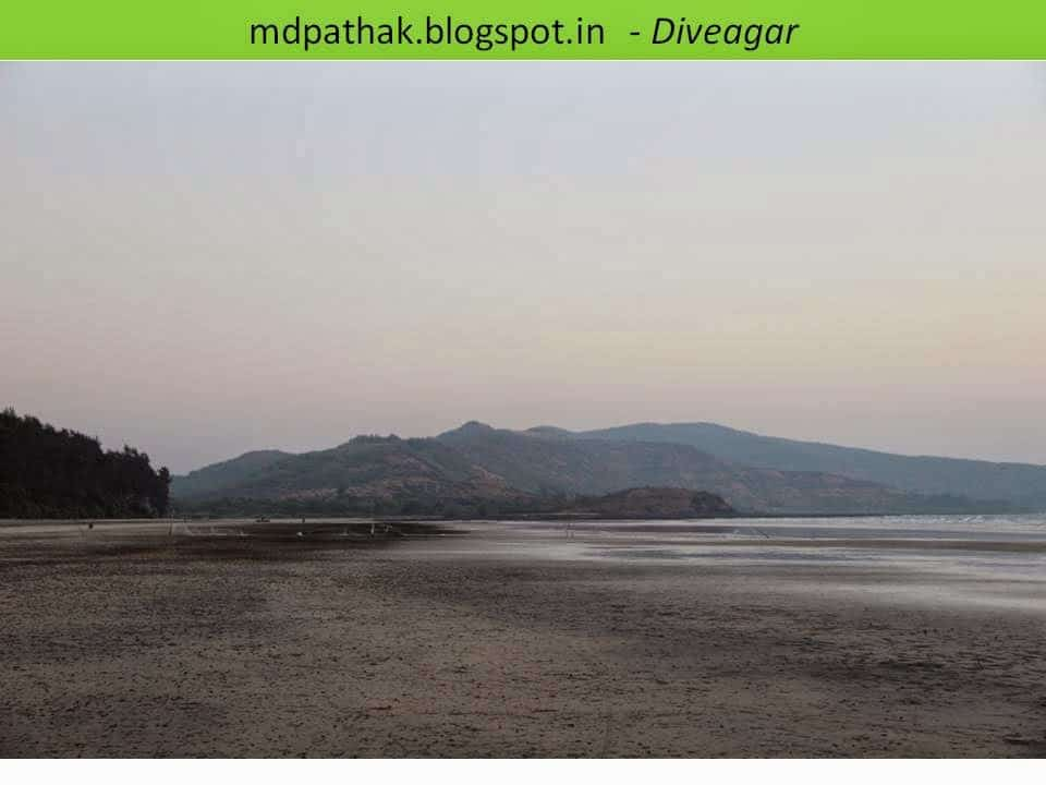 calm and quiet sea beach of diveagar