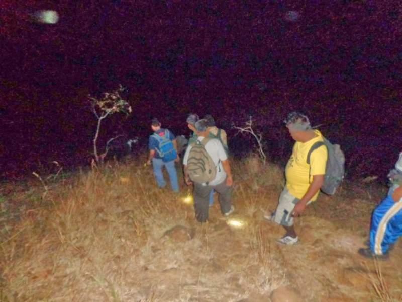 k2s night trail on hills