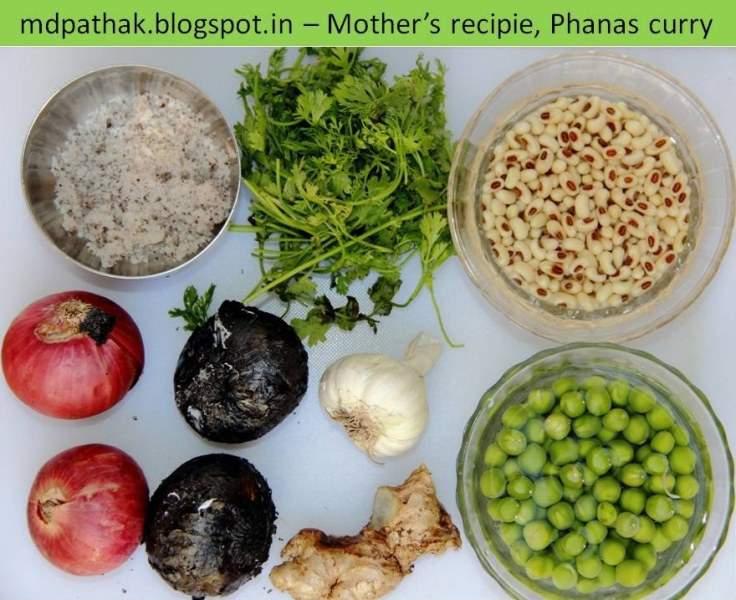 kachya phansachi bhaji raw material