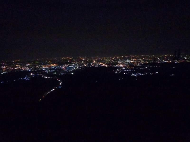 katraj to sinhgad night trek night view of pune