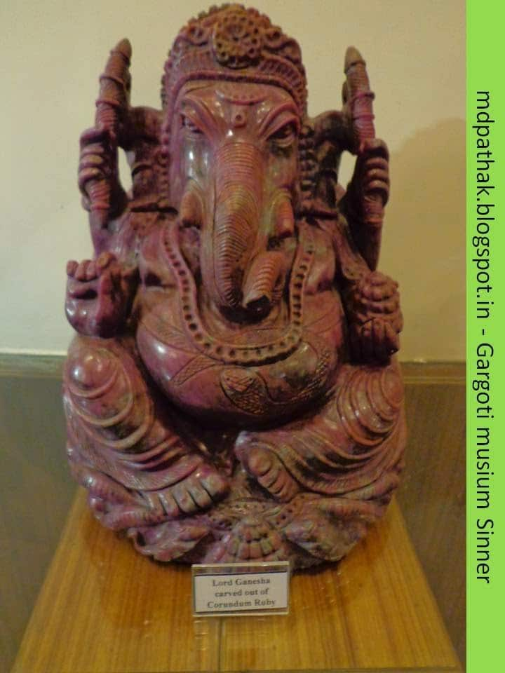 lord Ganesha carved out of Corundum ruby