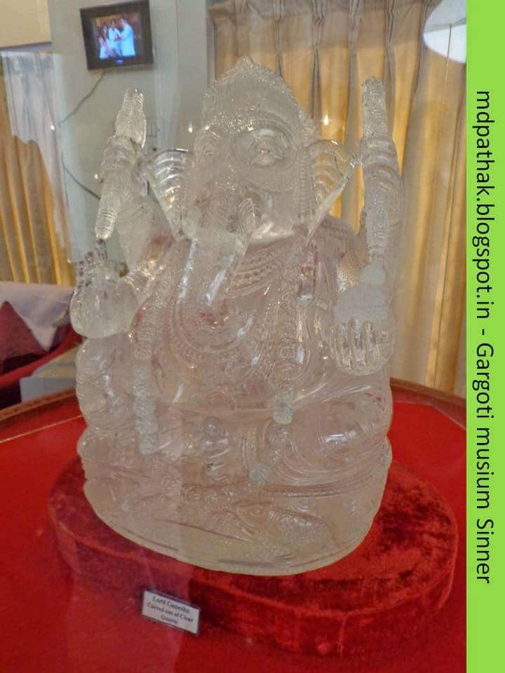 lord Ganesha carved out of clear quartz