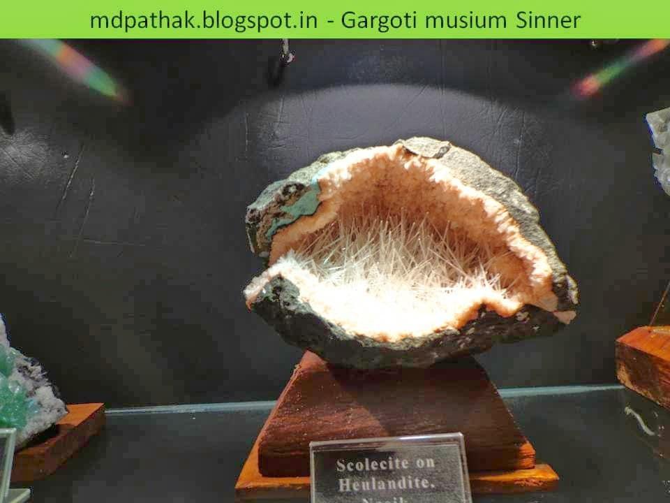 scolecite on heulandite found at Nasik, Maharashtra