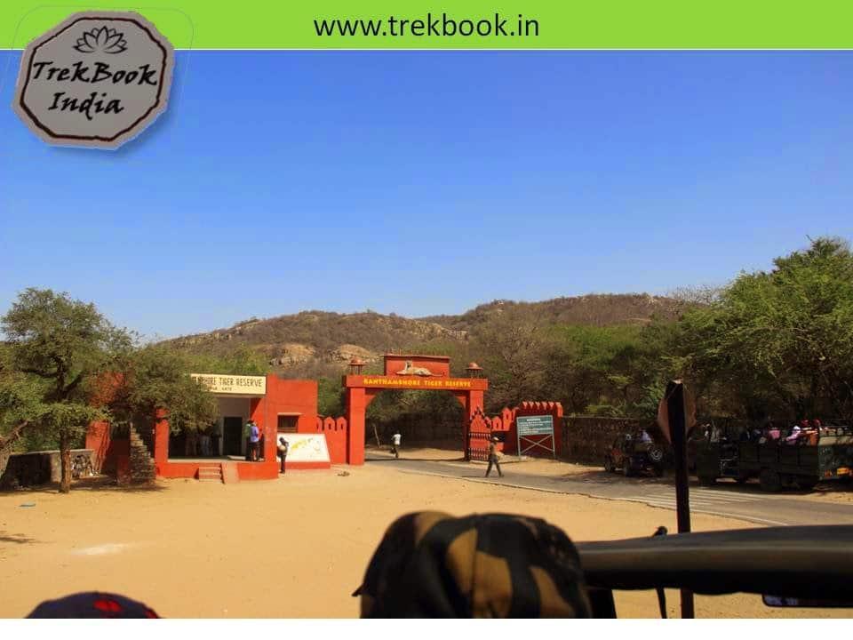 Entrance Ranthambore National Park, Sawai Madhopur, Rajasthan, India