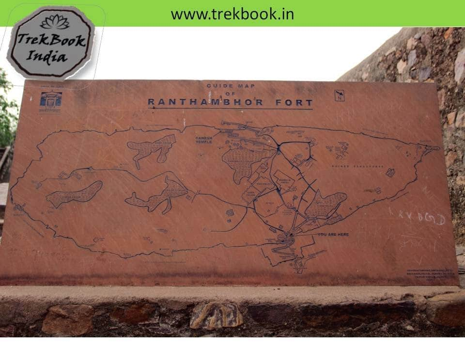 Fort Ranthambore india  map