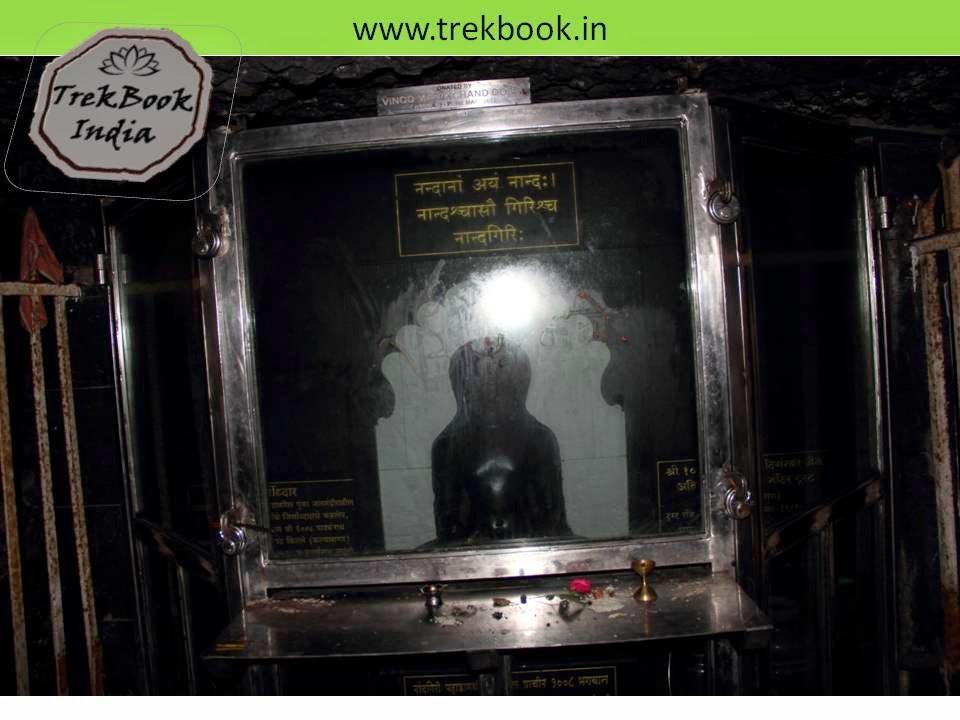 parshwanath temple inside caves of Kalyangad Fort, Nandgiri Village, Satara