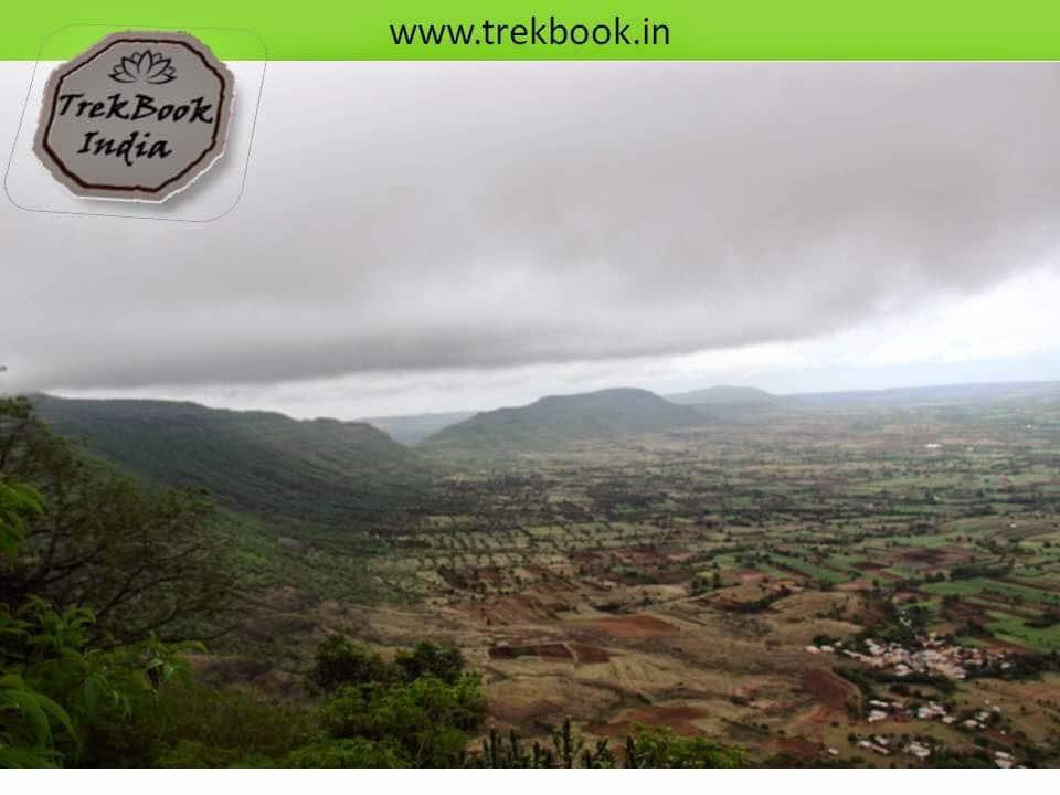 view from 3500 feet Kalyangad Fort, Nandgiri Village, Satara