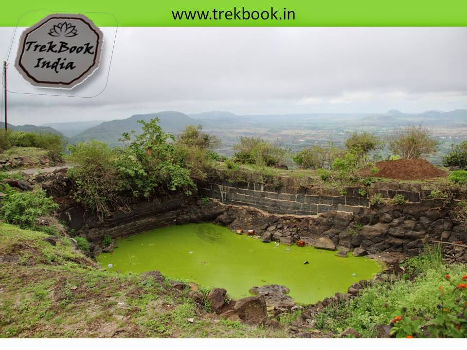 water cistern not in good condition at Kalyangad Fort, Nandgiri Village, Satara