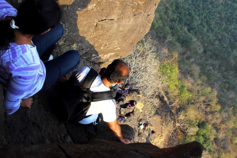 difficult descend gorakhgad trekking