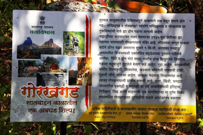 forest department gorakhgad information board