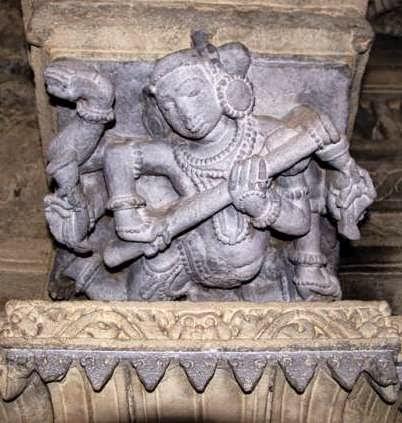 Amruteshwar Temple, interior roof carvings