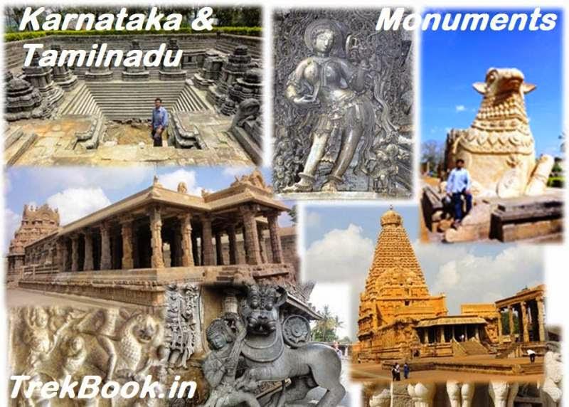 Monument Visit Karnataka and Tamilnadu India