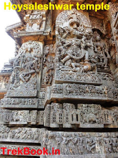 Varahi and other deities at Hoysaleswara temple exterior walls
