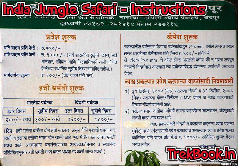 Instructions Jungle Safari in India