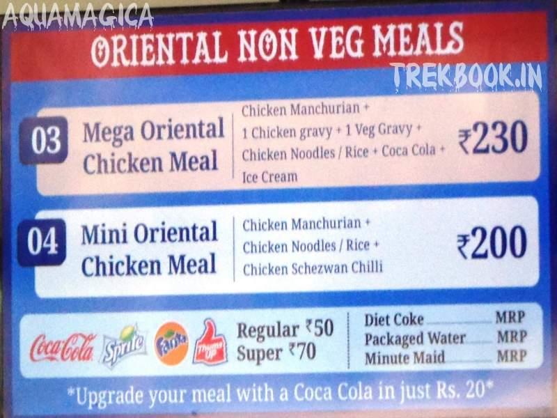 aquamagica oriental non veg meals