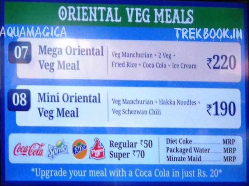 aqua imagica oriental veg meals