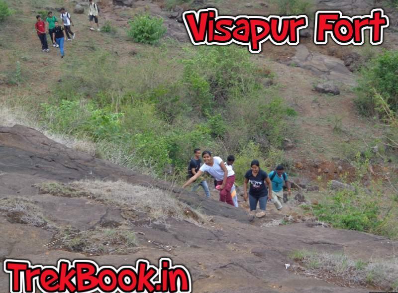 climbing rocks trekking