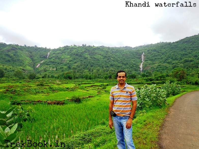 Lush green surroundings and me waterfalls near pune