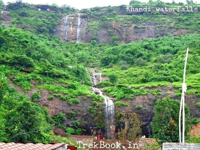 kanhe phata waterfalls - multi fold layers of waterfall