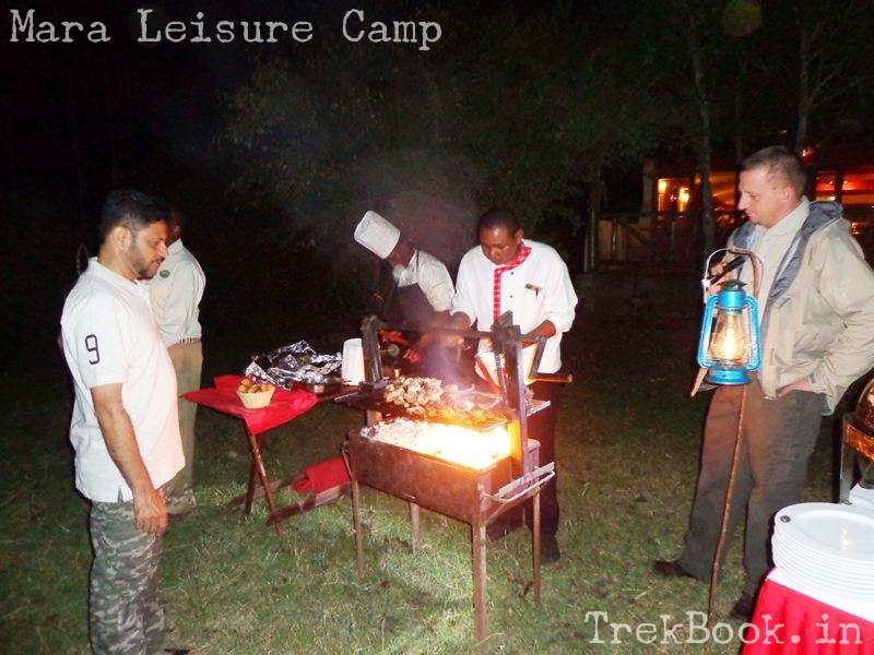 Mara Leisure Camp dinner barbeque