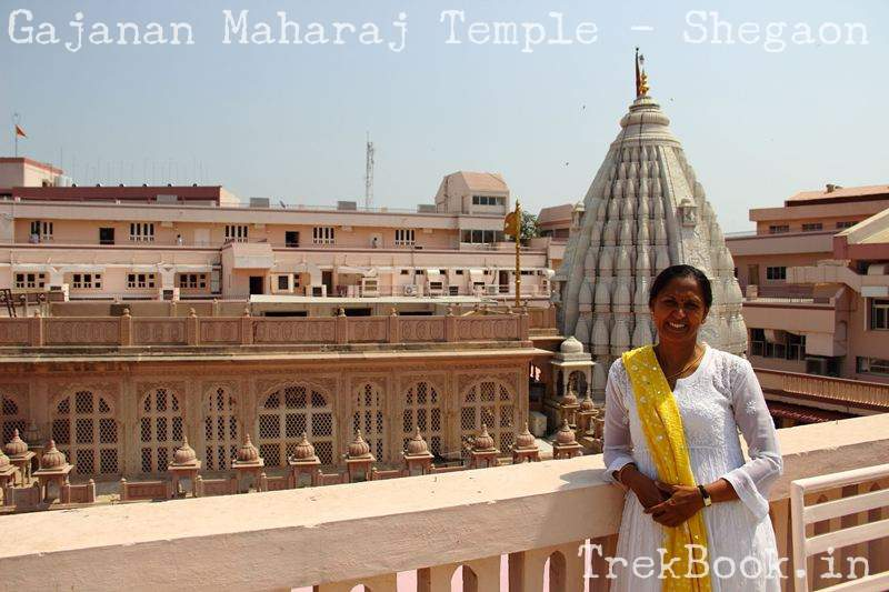 gajanan maharaj temple view from top