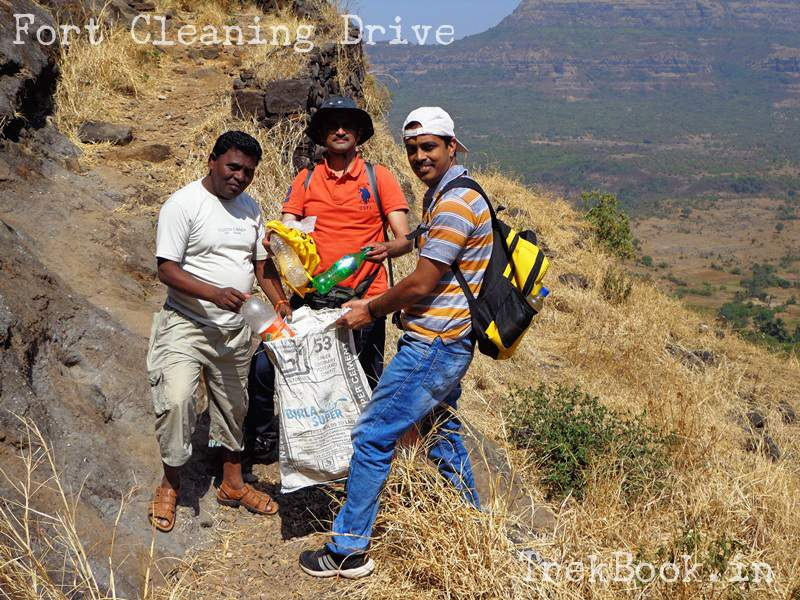 cleaning the ghangad fort