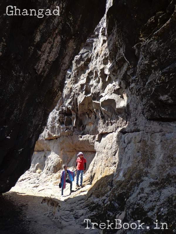huge rock fallen down