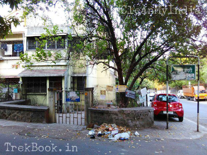 entrance of society area before cleanmyindia drive by fona