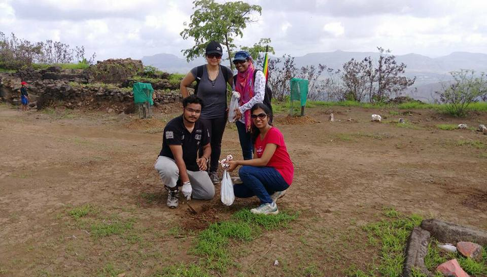 tree plantation at tikona fort